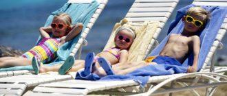 Дети отдыхают в Турции