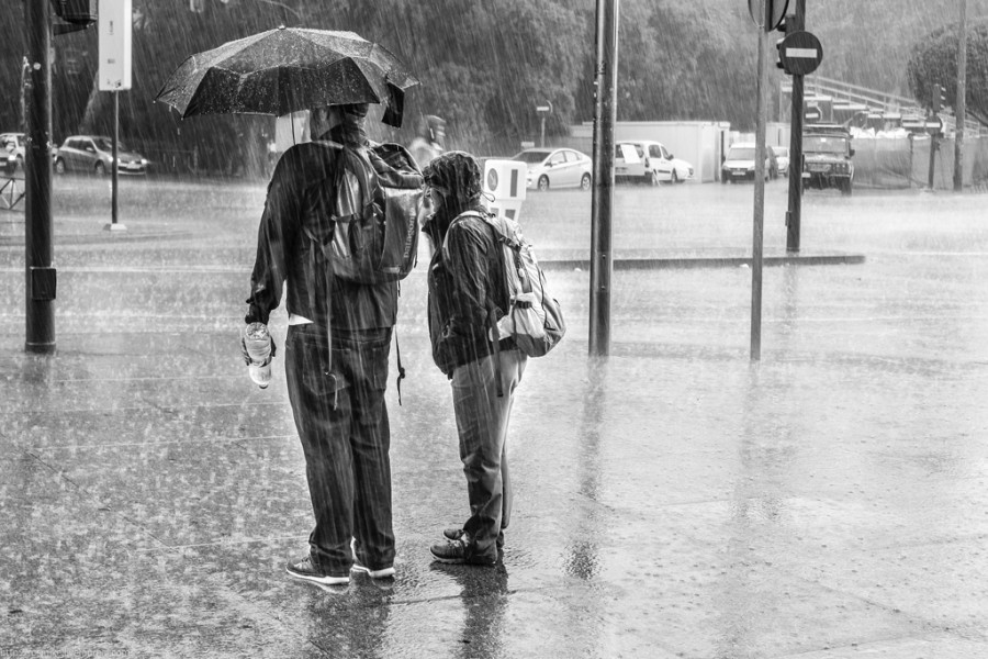 Мадрид в дождь