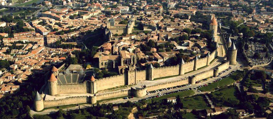 Город Каркассон во Франции