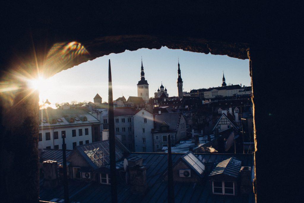 Вид на старый Таллине из башни