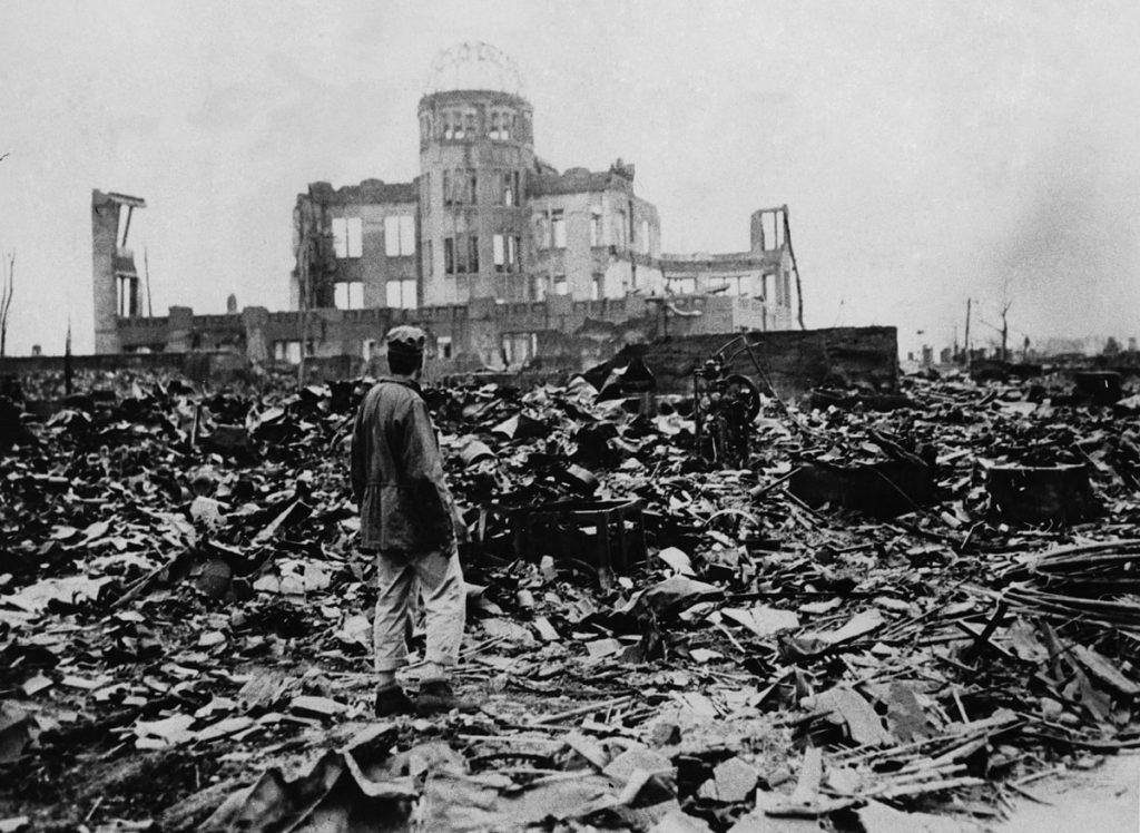 Руины японского города