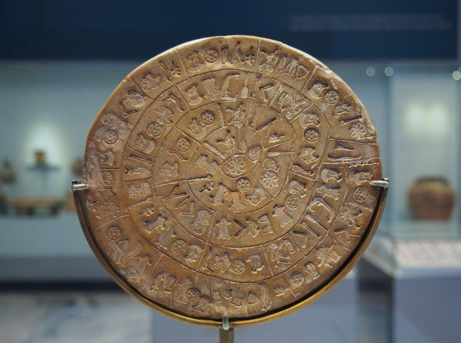 Фестский диск в музее Ираклиона