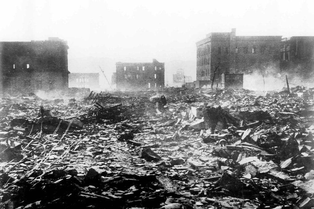 Руины городских кварталов