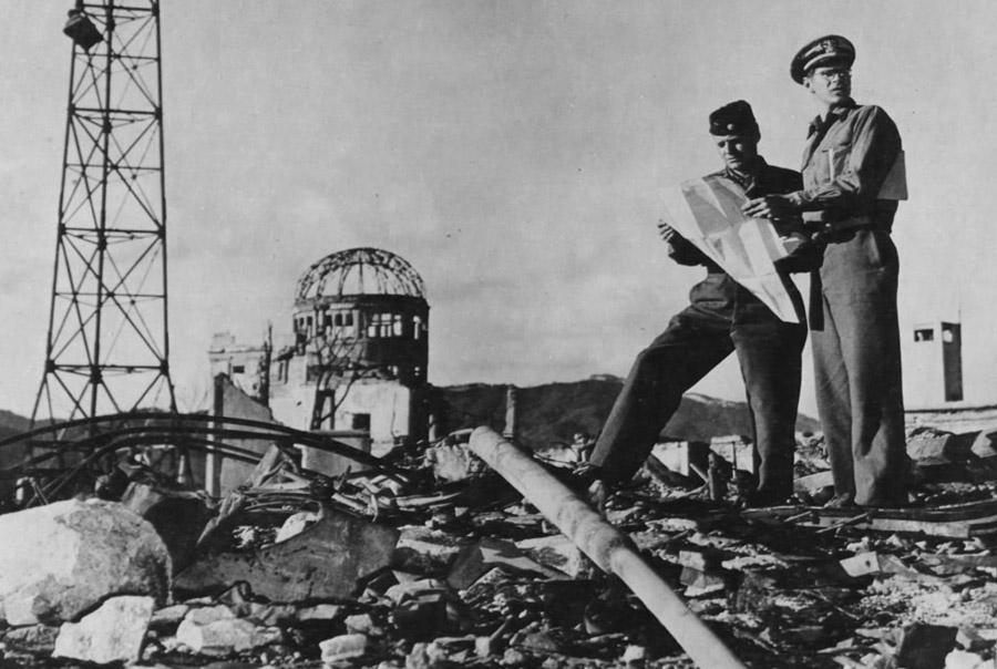 Город Хиросима после атаки