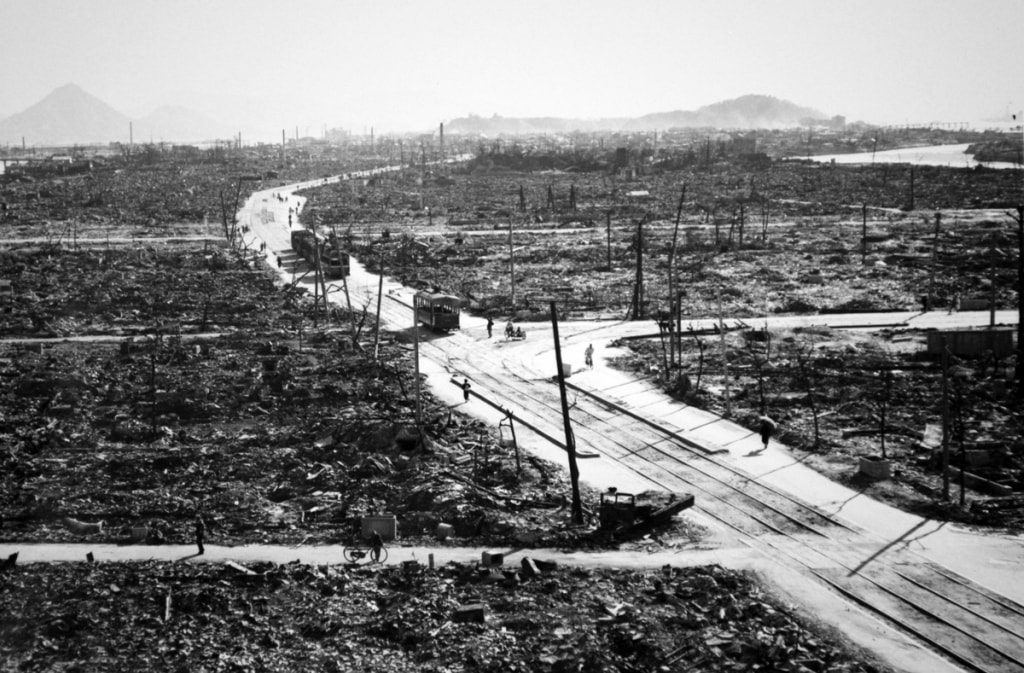 Хиросимские трамваи пережили бомбардировку