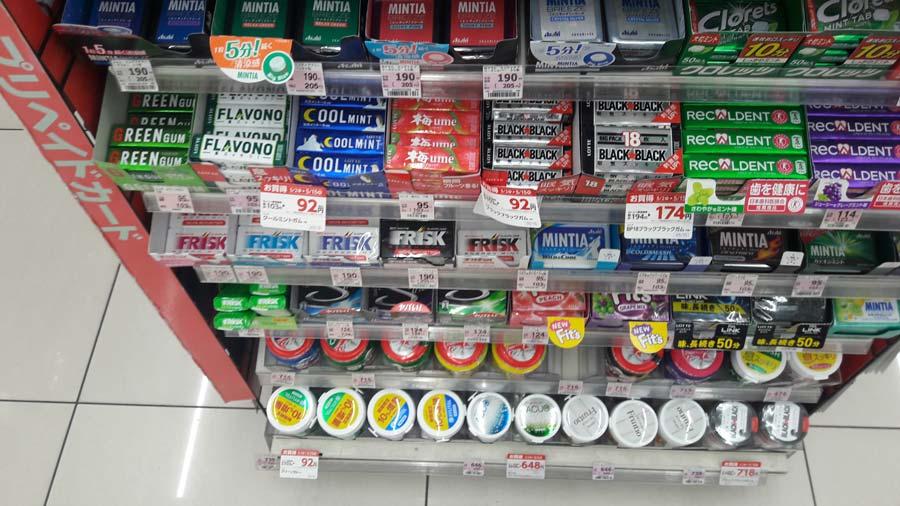 Цена на жвачки в Японии