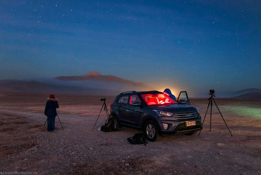 Съемка в пустыне