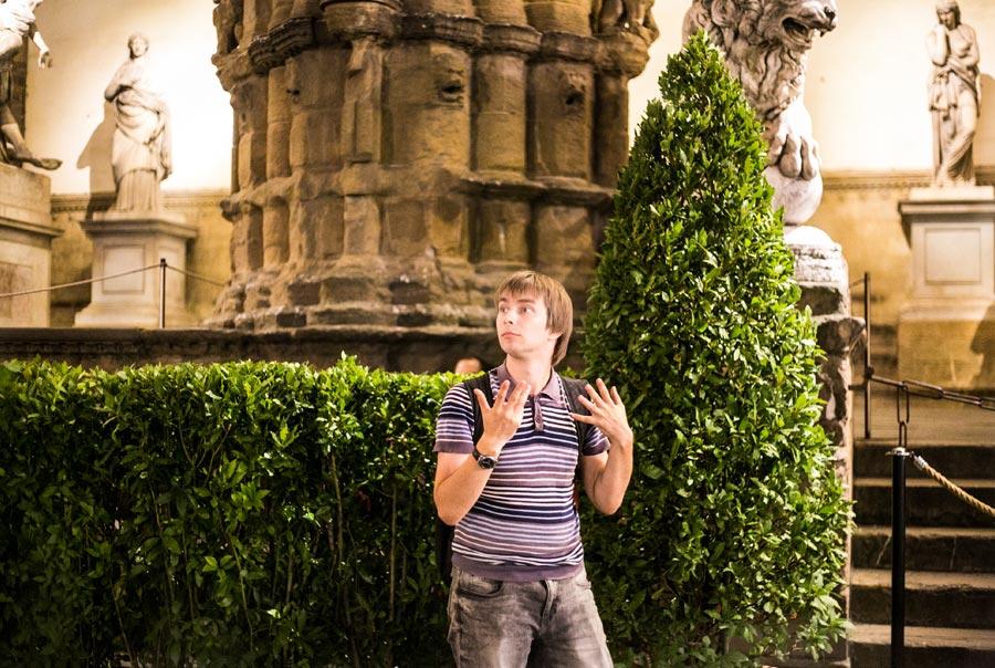 Роскин Михаил удивлен красотой Флоренции