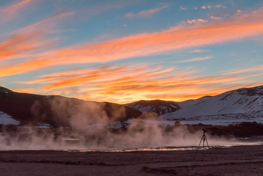 Закат в Чили
