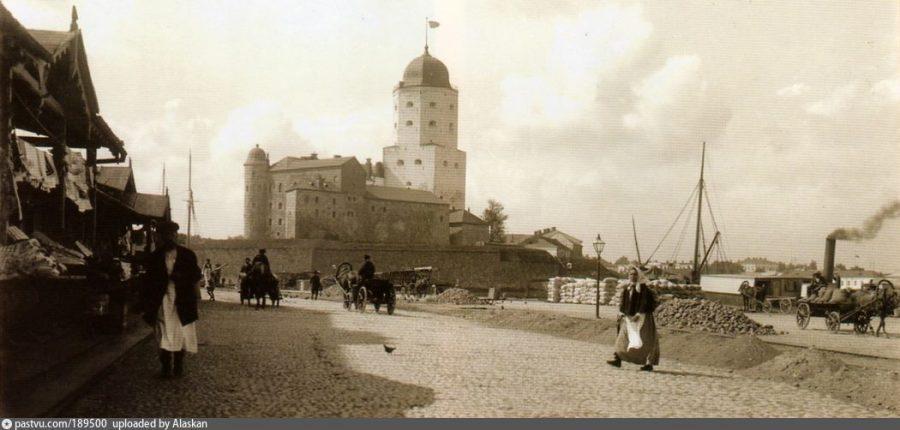 Старое фото замка в Выборге