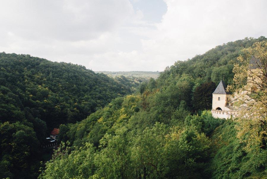 Вид со стены замка