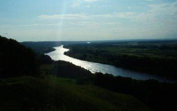 Вид на реку с Лысой горы