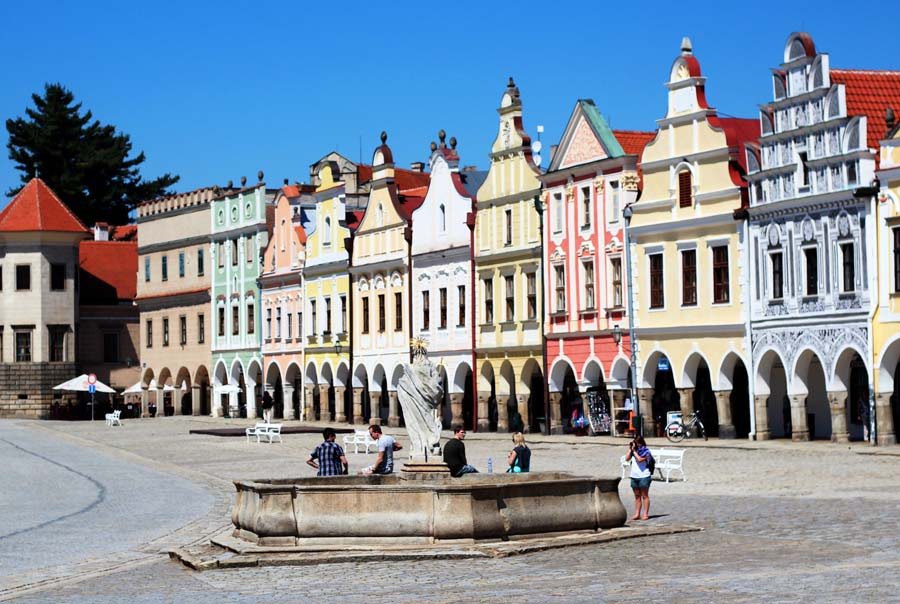 Площадь в городе Тельч