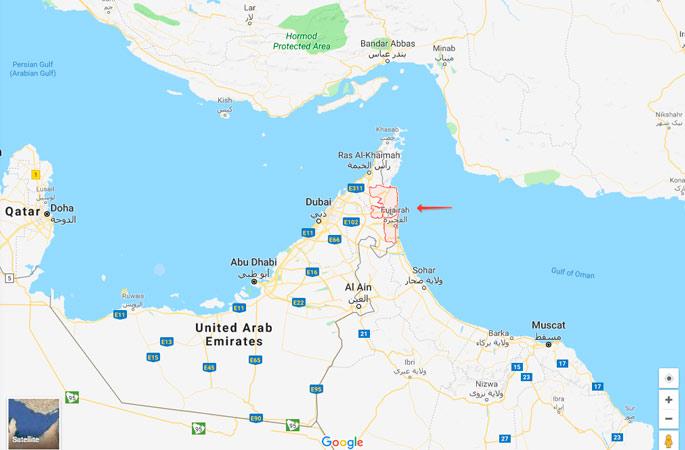 Город Фуджейра в Арабских Эмиратах