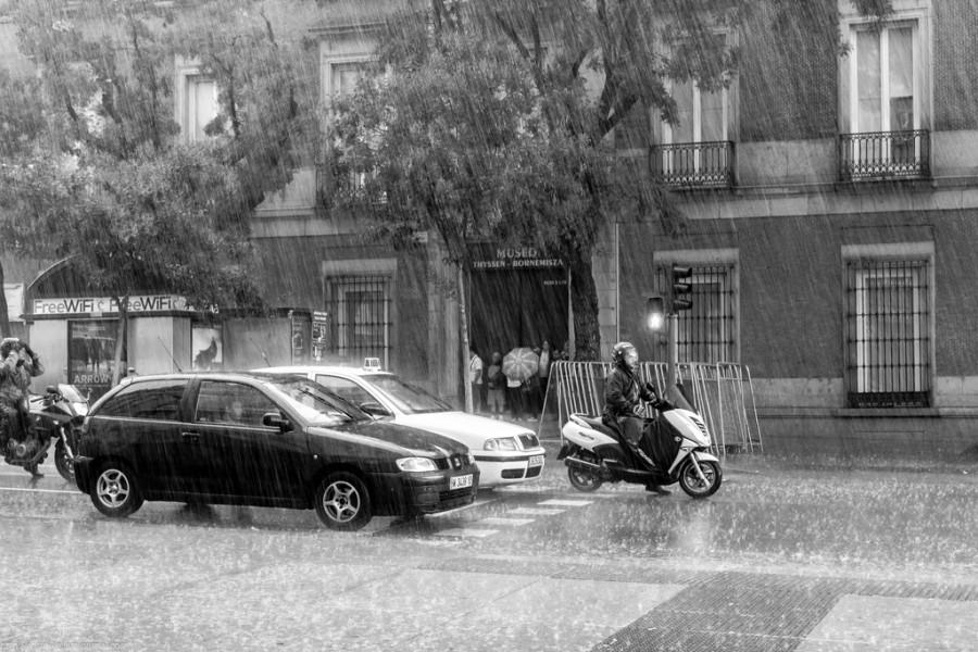 Дождь в Мадриде
