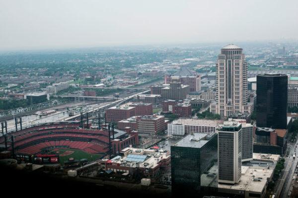 Вид с арки Сент-Луиса