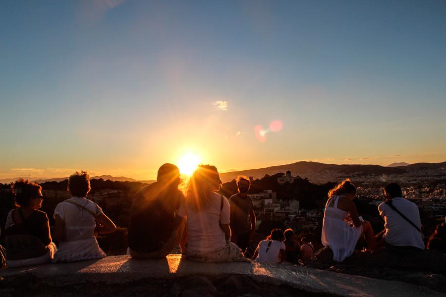 Закат в Афинах
