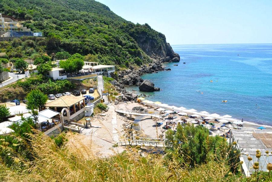 Пляж на Корфу Эрмонес