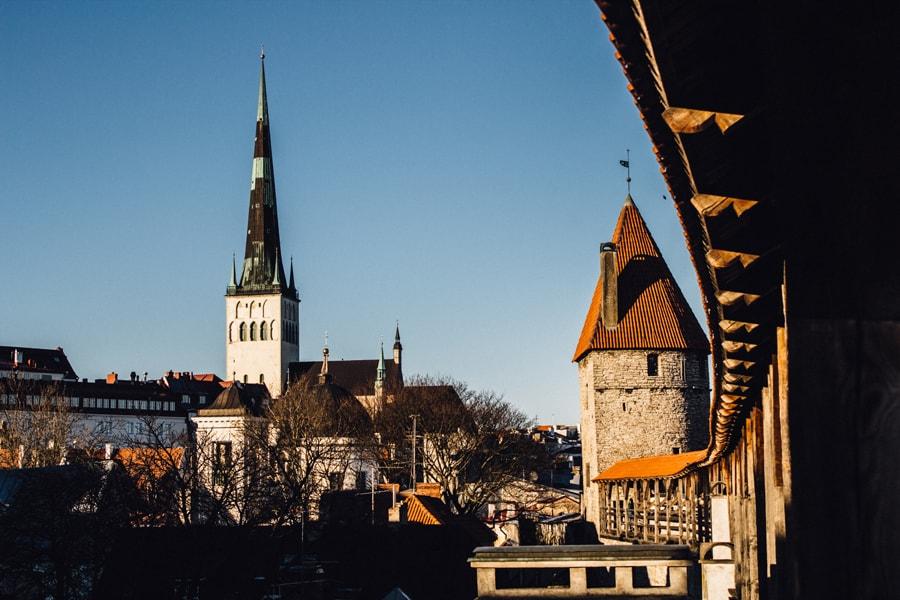 Вид на достопримечательности Таллина