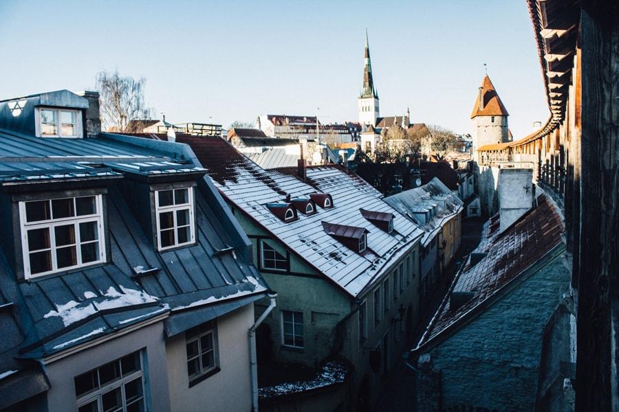Собор, стена и башня в Таллине