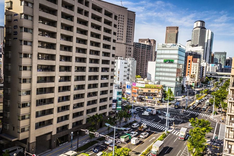 Вид из окна в Осаке