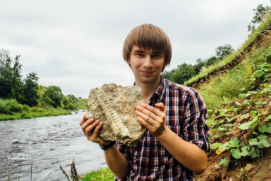 Поиск окаменелостей под Петербургом