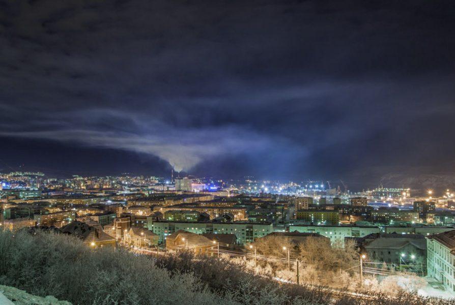 фотоснимки панорама города мурманска расположения санатория славится