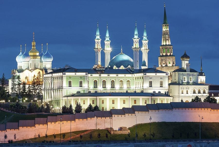 Вид на кремль, храмы и мечеть