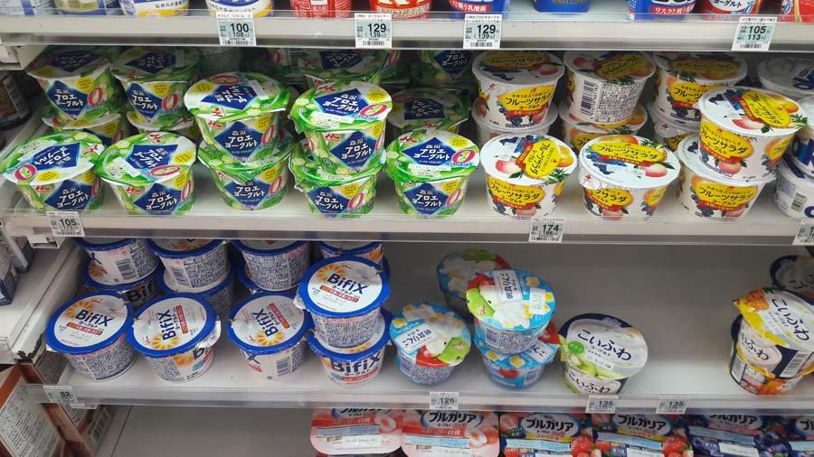 Йогурты в Японии