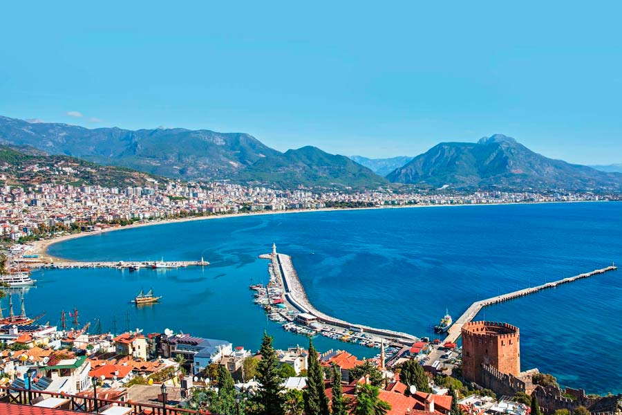 Город Анталия в Турции