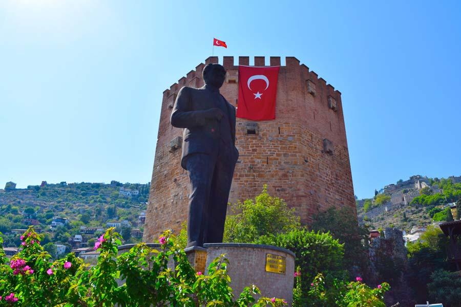 Город Аланья в Турции