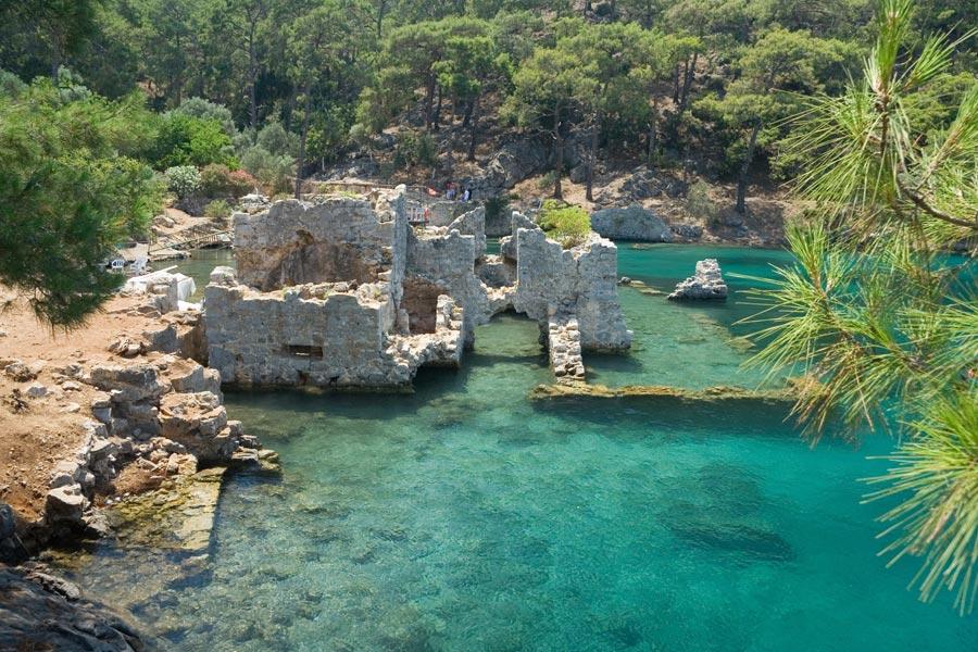 Остров Кекова и затонувший город