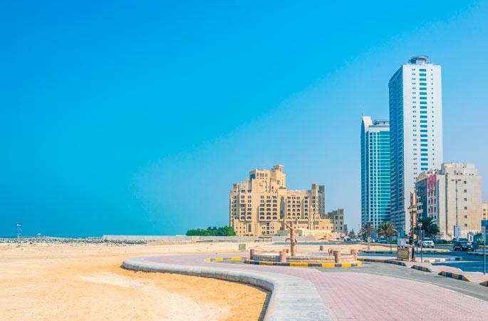 Город Аджман в Арабских Эмиратах