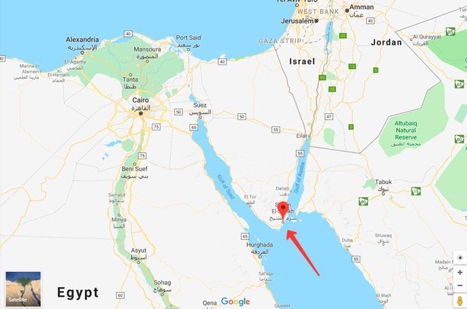 Город Шарм-эль-Шейх в Египте