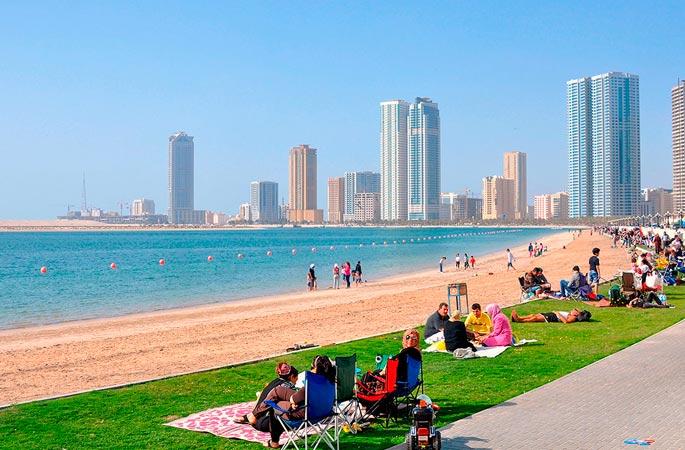 Город Шарджа в Арабских Эмиратах
