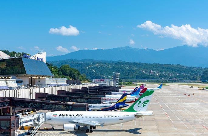 В каких городах Абхазии есть действующие международные аэропорты?