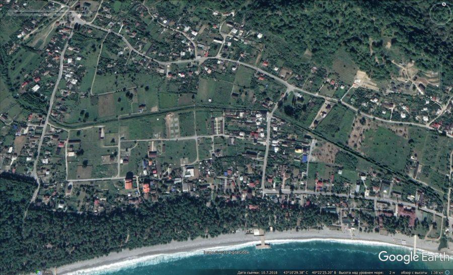 Посёлок Лдзаа в Абхазии